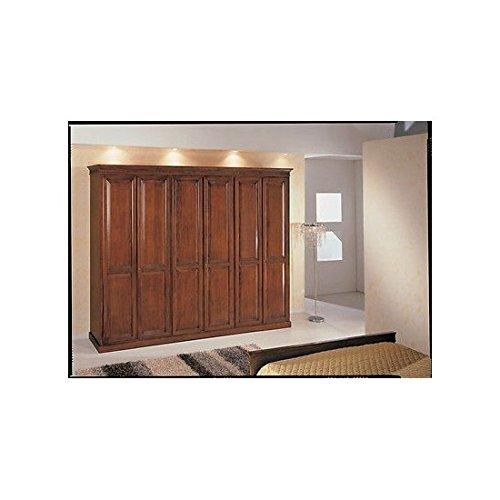 Estea mobili - armadio 6 ante arte povera legno massello - x camera da letto - 622l - come foto