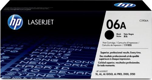 Original HP Toner 06A für LaserJet 5l/6l/3100/3150 (schwarz, Standard, 2500 Seiten) C3906A