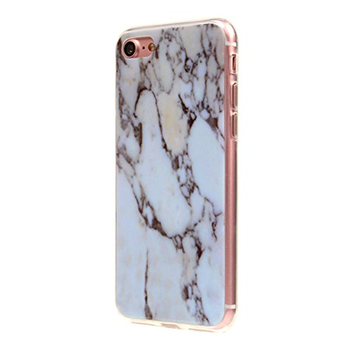 iPhone 7 Marble Case, iPhone 7 marmo cellulare, edaroo iPhone 7 Marble Effect Ultra sottile silicone rubber TPU Bumper Custodia per cellulare borsa Custodia Protective Back Cover Cover con motivo Cool 01 Marble White #2