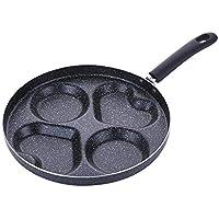 Sartén antiadherente portátil de 28 cm, pote omelette multifunción, ...