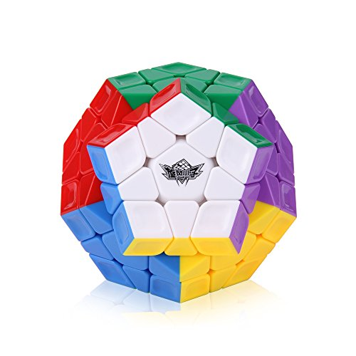 Roxenda Megaminx Speed Cube, 3x3x3 Pentagonale Speed Cube Dodecahedron Cubo Magico Puzzle Giocattolo (Megaminx Stickerless)