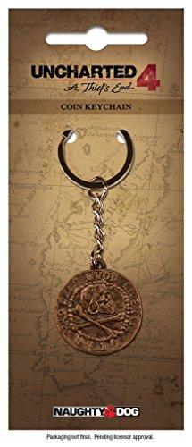 Preisvergleich Produktbild Uncharted 4 A Thief's End - Metall Schlüsselanhänger - Piraten Münze