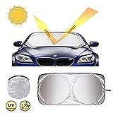 JTENG Parasole per Parabrezza, Parasole Auto per Parabrezza Anteriore, Protezione Solare, Protezione UV, Pieghevole e Portatile, 160 x 86 cm