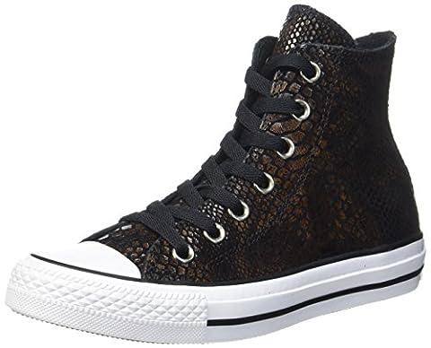 Converse Ctas Hi Brown/Black/White, Chaussons montants mixte adulte - multicolore - Mehrfarbig (Brown/Black/White),