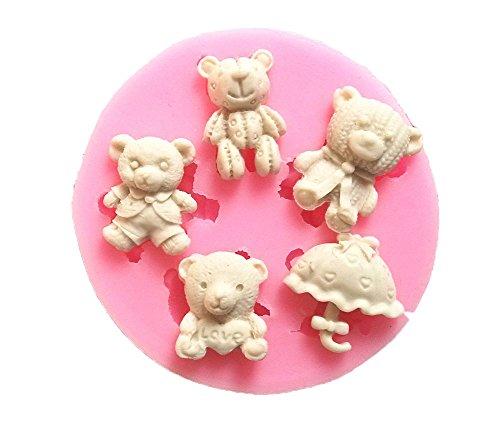 cosanter 3d silicone mini bambini orso stampo torta fatto a