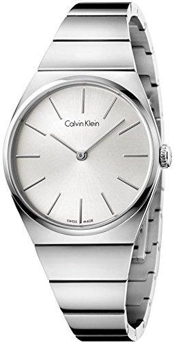 Calvin Klein Damen Analog Quarz Uhr mit Edelstahl Armband K6C2X146