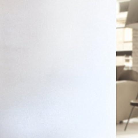 Rabbitgoo® Film Electrostatique Film Intimité Opaque Film Dépoli Blanc de Fenêtre 44.5*200CM Film de Protection UV Autocollant de Fenêtre Effet Verre Mate pour Bureau,Maison,Salle de Bain,WC,Chambre,Cuisine
