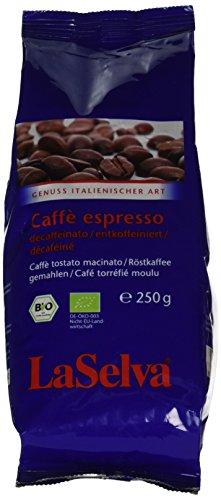 LaSelva Espresso koffeinfrei 250 g Bio, 1er Pack (1 x 250 g)