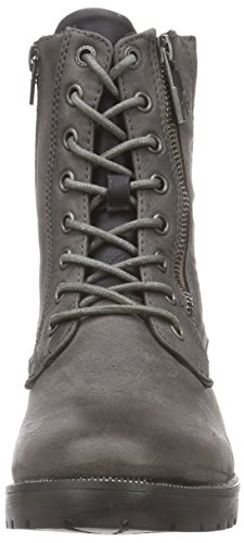 Bruno Banani Boot, Bottes Combat de hauteur moyenne, doublure froide femme Gris - Grau (Dk.Grey 258)