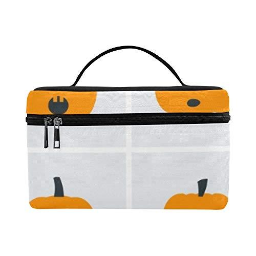 Collection Halloween Icons Kürbisse Vektor-Illustration Muster Lunchbox Tote Bag Lunch Holder Isolierte Lunch Cooler Bag für Damen/Herren/Picknick/Bootfahren/Strand/Angeln/Schule/Arbeit