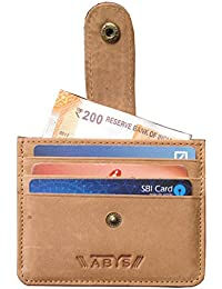 ABYS Genuine Leather Card Holder||Card Case||Money Clip||Credit Card Holder||Business Card Holder With Button...