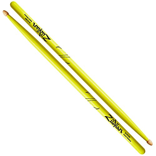 Zildjian 5A Drumsticks, Ahorn, Neon-Gelb