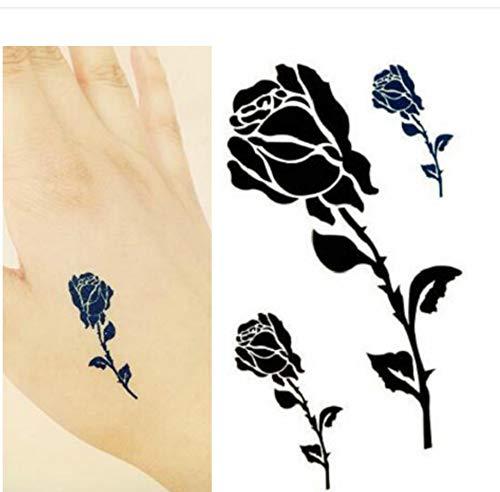 Lfvguiop impermeabili lunghi bastoni del tatuaggio imitazione di rose nere maschili e femminili bracciali vita alla caviglia maschere scar 10,5 * 6cm