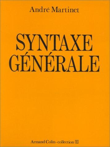 Syntaxe générale