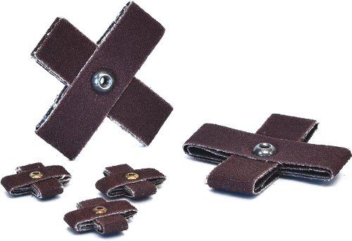 Arc Schleifmittel 28245Krankenunterlagen Einmalunterlagen Kreuz Pads, Körnung 60, 6x 2, 100Stück