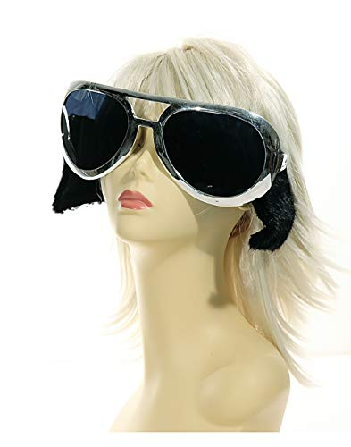 (Preis am Stiel 5 x Party Brille The King XXL | Karneval | Fasching | Kostüm Zubehör | Verkleidung | Partybrille | Scherzbrille | Rock Brille)