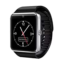gt08 Smart Phone Watch with SIM Card and Memory Card (Bluetooth, Pedometer, Anti-loss, Camera)-Black