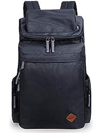dbca55960aa1a VENTCY Rucksack Herren Damen Vintage Backpack Canvas 30L Rucksack Segeltuch  Groß 15