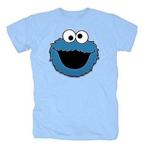 Sesamstrasse - Krümelmonster Cookie Head T-Shirt