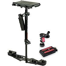 """FLYCAM HD-3000 24 """"/ 60cm Micro equilibratura portatile Steadycam dello stabilizzatore per DV HDV DSLR Videocamere fino a 3,5 kg / 8kg + FREE Tabella morsetto & Piastra rapida (FLCM-HD-3-QT)"""