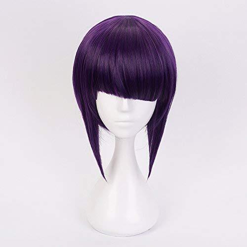 Preisvergleich Produktbild My hero academia cosplay Kurze schwarze Purpur gemischte Haar-synthetische Cosplay Perücken mit freier Kappe