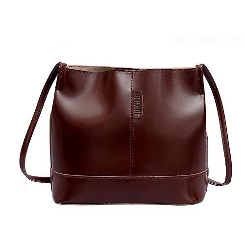 Preisvergleich Produktbild TianWlio Frauen Handtasche Trend Bucket Bag Hand Umhängetasche mit Großer Kapazität Kaffee