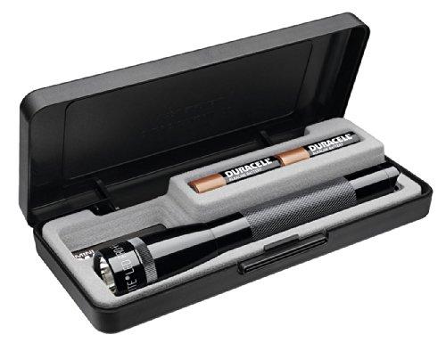 Mag-Lite LED Mini Maglite Pro + Taschenlampe mit 245 Lumen inkl. 2 Mignon-Batterien, schwarz, im Etui, SP+P017
