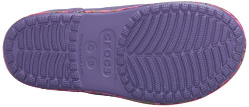 Crocs Bump It Graphic Rain Boot (Toddler/Little Kid) Blue Violet