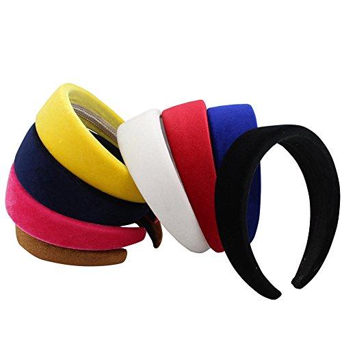 QtGirl alice Band 4cm-breit gepolstert 1cm-dick Haarreif Haarband für Damen und Mädchen (hellbraun)