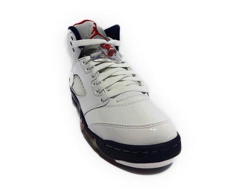 Nike Air Max 2010 414309-001 (gs) scarpe da corsa per bambini (6.5y) White / Varsity Red-Mid Navy