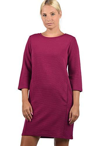 JACQUELINE de YONG by Only Swane Damen Sweatkleid Sommerkleid Kleid Mit Rundhals, Größe:M, Farbe:Red Plum