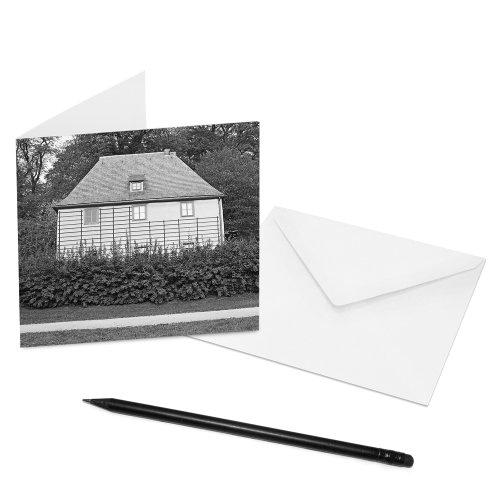 10er-Set COGNOSCO Klappkarten Weimar - 14 x 14 cm - Innenseiten: blanko - Motiv: Goethes Gartenhaus...
