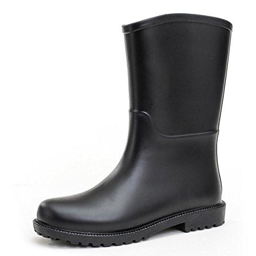 Frühling und Sommer Erwachsenen Mode Gelee Anti-Rutsch Regen Stiefel Black