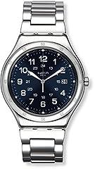 Idea Regalo - Swatch Orologio da Uomo Digitale al Quarzo con Cinturino in Acciaio Inox – YWS420G