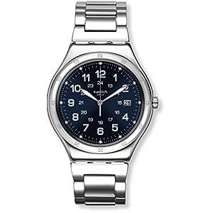 Swatch Reloj Digital de Cuarzo para Hombre con Correa de Acero Inoxidable – YWS420G