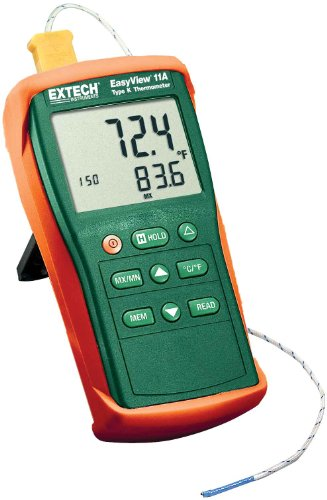 Extech Instruments EA11A Type-K Easy View Single Input Thermometer