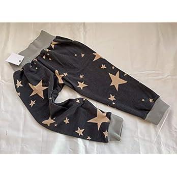 Pumphose Sterne auf grau 74/80