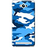 Bloody Branded Back Case For Asus Zenfone MAX | Asus Zenfone MAX Back Cover | Asus Zenfone MAX Back Case - Printed Designer Hard Plastic Case - Camouflage Theme(Blue, White & Royel Blue)
