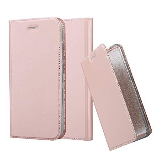 Cadorabo Funda Libro para Xiaomi Mi A1 / 5X en Classy Oro Rosa - Cubierta Proteccíon con Cierre Magnético, Tarjetero y Función de Suporte - Etui Case Cover Carcasa