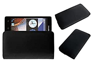 Acm Rich Leather Soft Case For Philips W3500 Mobile Handpouch Cover Carry Black