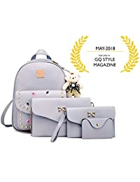 Mimisku Backpack Set With 1 Mini Backpack, 1 Sling Bag, 1 Clutch And 1 Wallet With Key Chain (mini Backpack For...