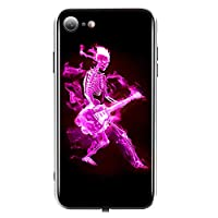 """TEOYALL iPhone Cases,Soft TPU and Tempered Glass Anti-Scratch iPhone Cover,Guitar-Skull Design Luminous Cases (iPhone7/7s/8/8s, 4.7"""" Skull)"""