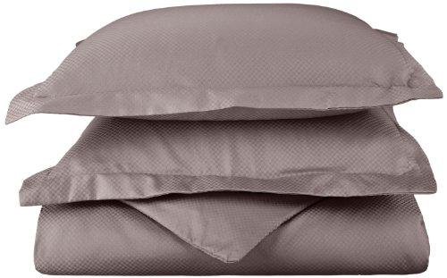 Impressions 800 fili/Micro-Dama, morbido e Anti grinze Set copripiumone, in cotone, colore: grigio, matrimoniale/King Size, California