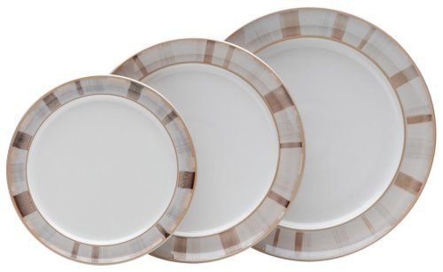 Denby Truffle Layers Wide Rimmed Dinner Plate by Denby Denby Truffle Layers