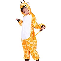 JT-Amigo Disfraz Pijamas para Unisex Niños,Jirafa, 4-6 años (Talla de la fabricante: 105)