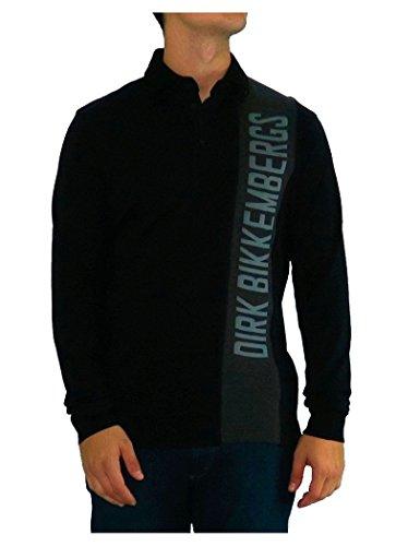 bikkembergs-polo-dirk-bikkembergs-black-grey-logo-m-negro