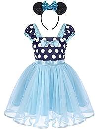 Bebé Niña Vestido de Fiesta Princesa Disfraces Tutú Ballet Lunares Fantasía  Vestido Carnaval Bautizo Cumpleaños Baile 56fc5142015a