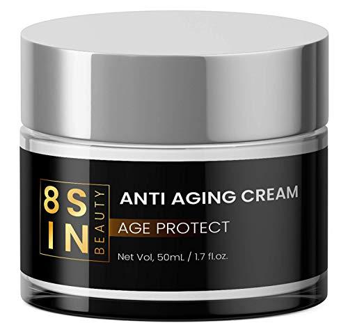 8 SIN | Anti-Aging Creme | Hyaluronsäure | Feuchtigkeitspflege für Gesicht und Augen | Gesichtscreme | Für Männer und Frauen