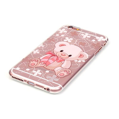 iPhone 6 Coque, iPhone 6S Coque, Lifeturt [ Ours ] Housse Anti-dérapante Absorbant Chocs Protection Etui Silicone Gel TPU Bumper Case pour Apple iPhone 6s / 6 E02-Ours