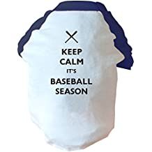 Keep calm its stagioni, motivo: Cane palla da baseball due tonalità, colore: rosa/blu